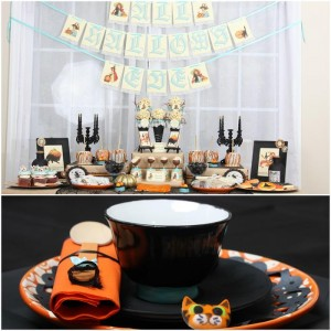 Vintage Halloween Party with Lots of REALLY CUTE IDEAS via Kara's Party Ideas | KarasPartyIdeas.com #HallowsEve #Party #Ideas #Supplies (43)