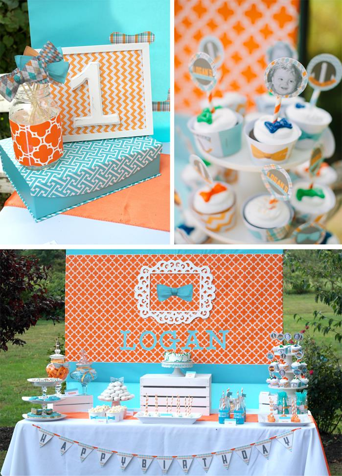 Kara 39 s party ideas modern little man 1st birthday party for Baby boy birthday party decoration ideas