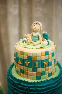 Mint, Aqua and Gold Christening with Lots of Really Cute Ideas via Kara's Party Ideas | KarasPartyIdeas.com #BoyChristeningParty #PartyIdeas #Supplies (13)