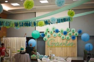 Mint, Aqua and Gold Christening with Lots of Really Cute Ideas via Kara's Party Ideas | KarasPartyIdeas.com #BoyChristeningParty #PartyIdeas #Supplies (12)