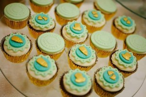 Mint, Aqua and Gold Christening with Lots of Really Cute Ideas via Kara's Party Ideas | KarasPartyIdeas.com #BoyChristeningParty #PartyIdeas #Supplies (10)