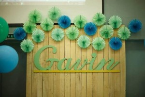 Mint, Aqua and Gold Christening with Lots of Really Cute Ideas via Kara's Party Ideas | KarasPartyIdeas.com #BoyChristeningParty #PartyIdeas #Supplies (7)