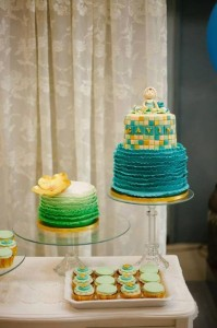 Mint, Aqua and Gold Christening with Lots of Really Cute Ideas via Kara's Party Ideas | KarasPartyIdeas.com #BoyChristeningParty #PartyIdeas #Supplies (6)