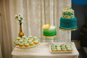 Mint, Aqua and Gold Christening with Lots of Really Cute Ideas via Kara's Party Ideas | KarasPartyIdeas.com #BoyChristeningParty #PartyIdeas #Supplies (3)