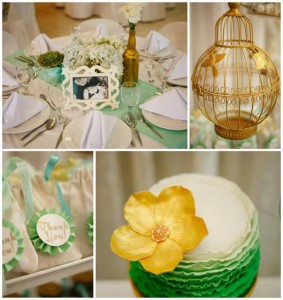 Mint, Aqua and Gold Christening with Lots of Really Cute Ideas via Kara's Party Ideas | KarasPartyIdeas.com #BoyChristeningParty #PartyIdeas #Supplies (1)