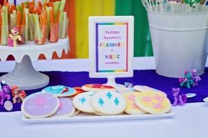 My Little Pony Rainbow Party Full of Cute Ideas via Kara's Party Ideas   KarasPartyIdeas.com #4thBirthday #Party #Ideas #Supplies (12)