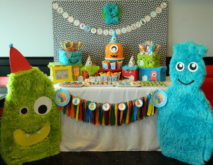 Monster Bash Themed 2nd Birthday Party With Lots Of Awesome Ideas Via Karas