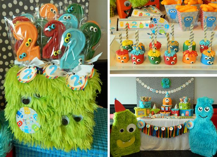 Kara 39 s party ideas monster bash themed 2nd birthday party for 2nd birthday decoration
