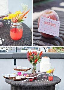Peach Themed Party with Such Darling Ideas via Kara's Party Ideas | KarasPartyIdeas.com #Peaches #Party #Ideas #Supplies (1)