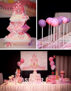 Princess Themed 1st Birthday Party Lots of Cute Ideas via Kara's Party Ideas | KarasPartyIdeas.com #PrincessParty #DisneyPrincessParty #PartyIdeas #Supplies (1)
