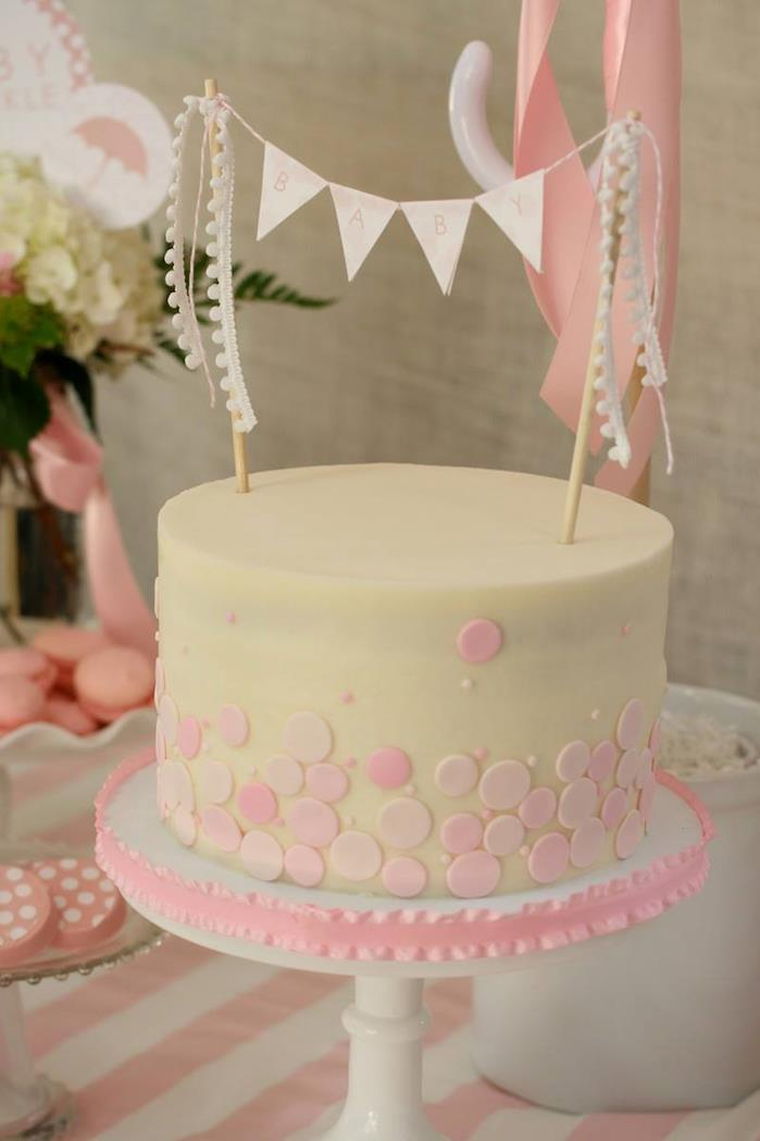 Kara S Party Ideas Rain Themed Pink Baby Sprinkle With So