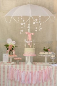 Rain Themed Pink Baby Sprinkle with So Many REALLY CUTE IDEAS via Kara's Party Ideas | KarasPartyIdeas.com #BabyShower #Party #Ideas #Supplies (4)