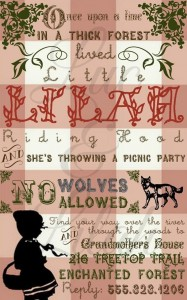 Little Red Riding Hood Sorybook Picnic with Such Darling Ideas via Kara's Party Ideas | KarasPartyIdeas.com #BigBadWolf #Party #Ideas #Supplies (7)