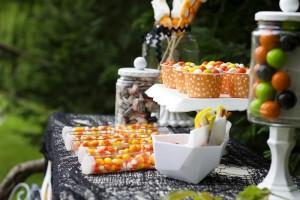 Retro Halloween Party with Lots of Really Cute Ideas via Kara's Party Ideas | KarasPartyIdeas.com #HalloweenParty #BlackCatParty #PartyIdeas #Supplies (9)