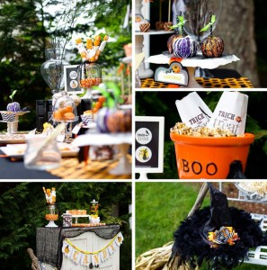 Retro Halloween Party with Lots of Really Cute Ideas via Kara's Party Ideas | KarasPartyIdeas.com #HalloweenParty #BlackCatParty #PartyIdeas #Supplies (1)