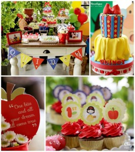 Snow White Themed 1st Birthday Party with Lots of Cute Ideas via Kara's Party Ideas KarasPartyIdeas.com #SnowWhiteParty #Party #Ideas #Supplies (1)