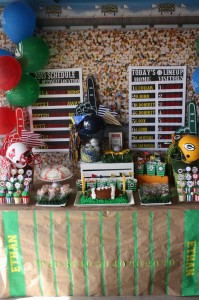 Sports Party with Really Fun Ideas via Kara's Party Ideas | KarasPartyIdeas.com #FootballParty #HockeyParty #BaseballParty #PartyIdeas #Supplies (8)