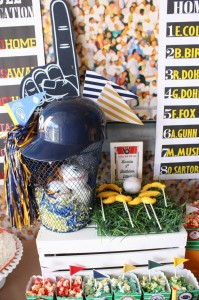 Sports Party with Really Fun Ideas via Kara's Party Ideas | KarasPartyIdeas.com #FootballParty #HockeyParty #BaseballParty #PartyIdeas #Supplies (2)