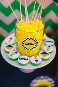 Neon Geo Stache Bash Baby Shower Filled with Really Cute Ideas via Kara's Party Ideas | KarasPartyIdeas.com #MustacheParty #Party #Ideas #Supplies (10)