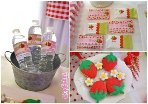 Strawberry Themed 7th Birthday Party with Lots of Cute Ideas via Kara's Party Ideas | KarasPartyIdeas.com #Strawberry #Party #Ideas #Supplies (3)