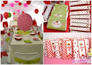 Strawberry Themed 7th Birthday Party with Lots of Cute Ideas via Kara's Party Ideas | KarasPartyIdeas.com #Strawberry #Party #Ideas #Supplies (2)