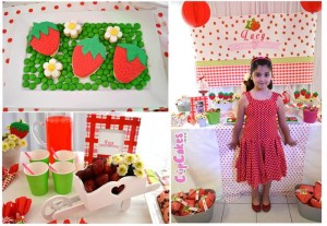 Strawberry Themed 7th Birthday Party with Lots of Cute Ideas via Kara's Party Ideas | KarasPartyIdeas.com #Strawberry #Party #Ideas #Supplies (1)