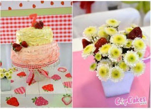 Strawberry Themed 7th Birthday Party with Lots of Cute Ideas via Kara's Party Ideas | KarasPartyIdeas.com #Strawberry #Party #Ideas #Supplies (11)