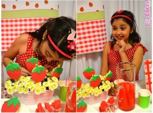 Strawberry Themed 7th Birthday Party with Lots of Cute Ideas via Kara's Party Ideas | KarasPartyIdeas.com #Strawberry #Party #Ideas #Supplies (4)