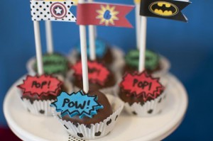 Superhero Themed Birthday Party with So Many Cute Ideas via Kara's Party Ideas | KarasPartyIdeas.com #SupermanParty #BatmanParty #PartyIdeas #Supplies (11)
