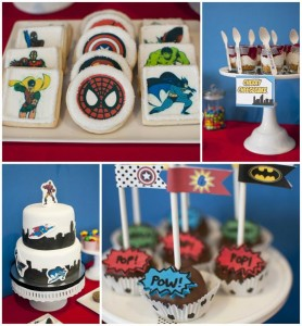 Superhero Themed Birthday Party with So Many Cute Ideas via Kara's Party Ideas | KarasPartyIdeas.com #SupermanParty #BatmanParty #PartyIdeas #Supplies (1)