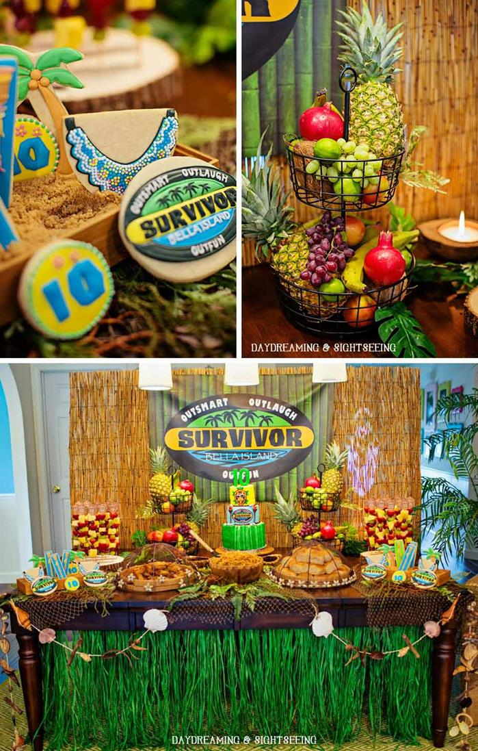 karas party ideas quotsurvivorquot inspired party with lots of