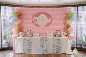 Romantic Tea Party 1st Birthday Party with Such Cute Ideas via Kara's Party Ideas | KarasPartyIdeas.com #TeaParty #Party #Ideas #Supplies (7)