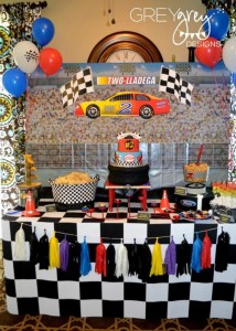 Two lledega Race Car Party with Lots Really Cool Ideas via Kara's Party Ideas | KarasPartyIdeas.com #Talledega #Racing #Party #Ideas #Supplies (9)