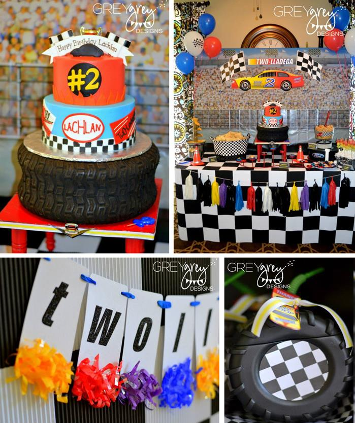 Kara's Party Ideas » Two Lledega Race Car Party With Lots