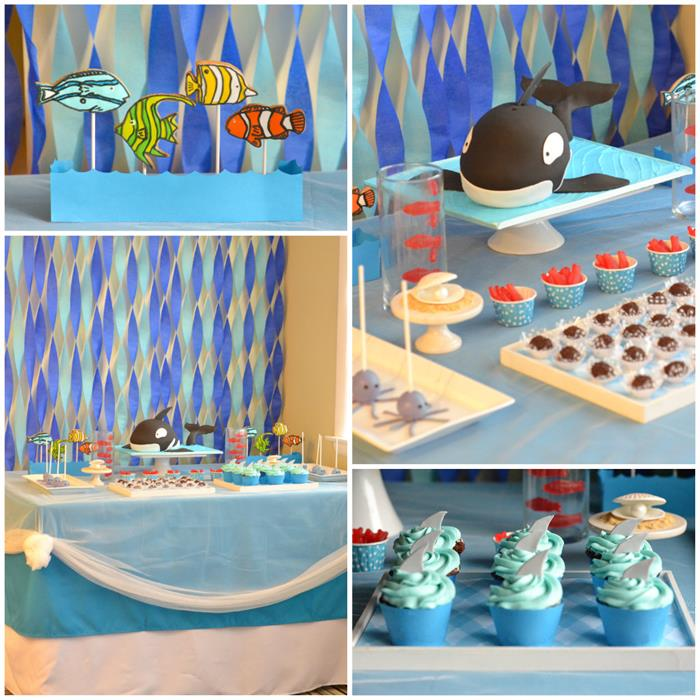 Kara 39 s party ideas under the sea party with lots of for Fishing themed party supplies