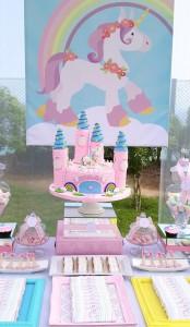 Rainbows and Unicorns Party with So Many Cute Ideas via Kara's Party Ideas | KarasPartyIdeas.com #UnicornParty #RainbowParty #PartyIdeas #Supplies (25)