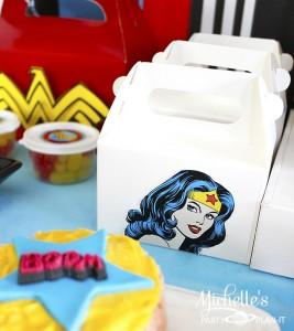 Wonder Woman Party with So Many Awesome Ideas via Kara's Party Ideas | KarasPartyIdeas.com #Superhero #Party #Ideas #Supplies (11)