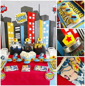 Wonder Woman Party with So Many Awesome Ideas via Kara's Party Ideas | KarasPartyIdeas.com #Superhero #Party #Ideas #Supplies (1)