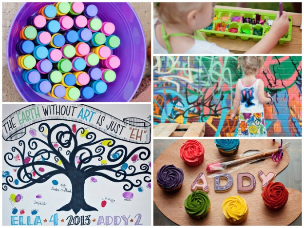 All Things Art Party Full of Fabulous Ideas via Kara's Party Ideas | KarasPartyIdeas.com #ArtParty #PaintingParty #PartyIdeas #PartySupplies (1)