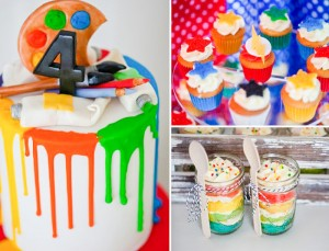 Superhero Art Party with The Flash Full of Awesome Ideas via Kara's Party Ideas | KarasPartyIdeas.com #TheFlashParty #SuperheroParty #ArtParty #PartyIdeas #PartySupplies
