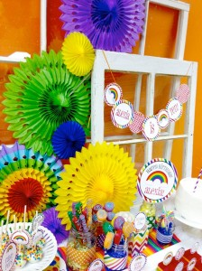 Rainbow loom party! With Lots of Fun Ideas! Via Kara's Party Ideas KarasPartyIdeas.com #rainbowparty #loomparty #rainbowloomparty (24)