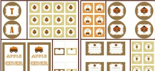 FREE Thanksgiving Party PRINTABLES! Tags, place cards, notes, decor and more! By Simply Creative Insanity via Kara's Party Ideas KarasPartyIdeas.com #thanksgvingideas