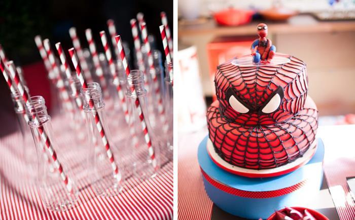 Kara S Party Ideas Spiderman Party Planning Ideas Supplies Idea Cake