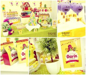 Barney & Friends Party Full of Great Ideas via Kara's Party Ideas | KarasPartyIdeas.com #BarneyThePurpleDinosaur #Party #Ideas #Supplies (1)