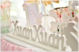 Shabby Chic Bunny Themed 1st Birthday Party with SUCH CUTE IDEAS via Kara's Party Ideas | KarasPartyIdeas.com #BunnyParty #PartyIdeas #Supplies (20)