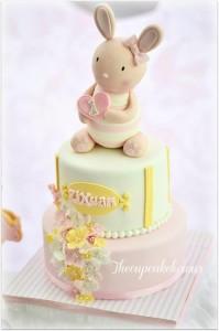 Shabby Chic Bunny Themed 1st Birthday Party with SUCH CUTE IDEAS via Kara's Party Ideas | KarasPartyIdeas.com #BunnyParty #PartyIdeas #Supplies (16)