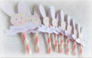 Shabby Chic Bunny Themed 1st Birthday Party with SUCH CUTE IDEAS via Kara's Party Ideas | KarasPartyIdeas.com #BunnyParty #PartyIdeas #Supplies (7)