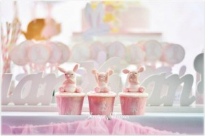 Shabby Chic Bunny Themed 1st Birthday Party with SUCH CUTE IDEAS via Kara's Party Ideas | KarasPartyIdeas.com #BunnyParty #PartyIdeas #Supplies (3)