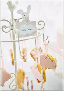 Shabby Chic Bunny Themed 1st Birthday Party with SUCH CUTE IDEAS via Kara's Party Ideas | KarasPartyIdeas.com #BunnyParty #PartyIdeas #Supplies (2)