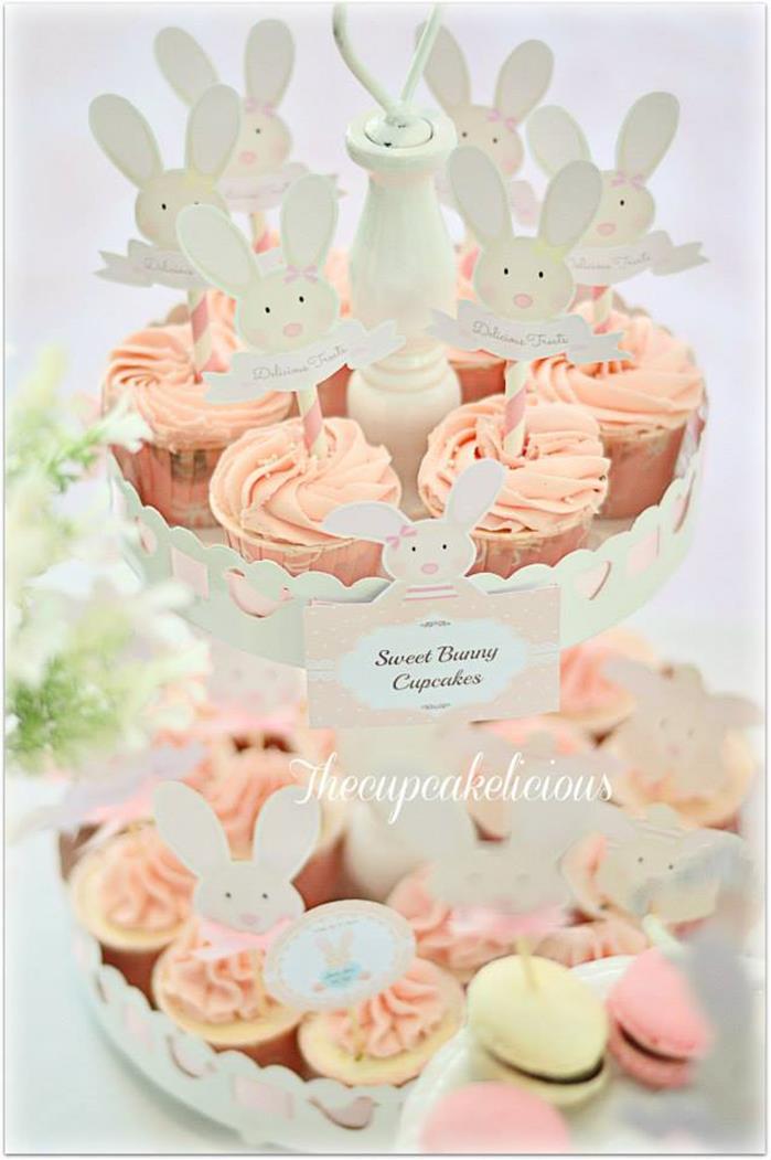 Kara S Party Ideas Shabby Chic Bunny Themed 1st Birthday